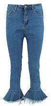 Lorraine Mid Rise Frill Hem Jeans