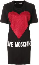 Love Moschino - Vestito modello T-shirt - women - Cotton - 40 - BLACK