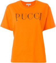Emilio Pucci - T-shirt con logo - women - Cotton - S, M, L - YELLOW & ORANGE
