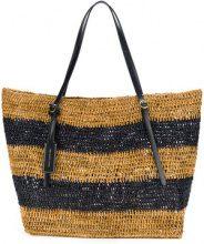 Polo Ralph Lauren - Borsa shopper - women - Raffia/Calf Leather - OS - BROWN