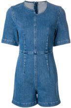 Stella McCartney - Tuta denim corta - women - Cotton/Spandex/Elastane - 36 - BLUE