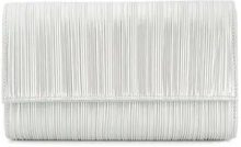 Casadei - metallic pleated clutch bag - women - Leather/Polyester - OS - METALLIC