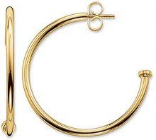 Thomas Sabo Glam & Soul, Donna, creoli, argento sterling 925 placcato oro giallo 18 carati