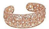 Stroili Gioielli - Bracciale schiava in argento placcato oro rosa e cristalli