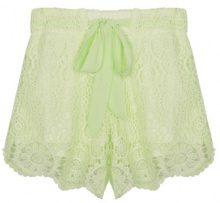 Shorts con copertura a uncinetto