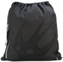 McQ Alexander McQueen - swallow embellished backpack - women - Nylon - OS - BLACK