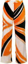 Emilio Pucci - Pantaloni in velluto crop - women - Viscose/Silk - 40, 42 - Giallo & arancio