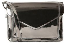 PIECES Metallic Crossbody Bag Women Grey