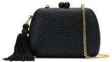 Serpui - clutch bag - women - Straw - OS - BLACK