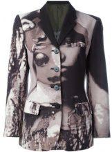 Jean Paul Gaultier Vintage - 'La Culture Noire At Sa Force' blazer - women - Polyester/Cotton - 42 - GREY