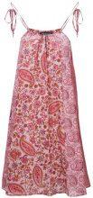 Twin-Set - Vestito con stampa cashmere - women - Cotone/metal - 46, 48 - PINK & PURPLE