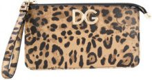 Dolce & Gabbana - Pochette con logo - women - Calf Leather/Leather - One Size - GREEN