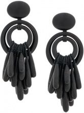 Monies - oversized clip-on earrings - women - Acrylic - One Size - BLACK
