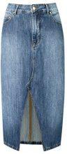 - Amapô - straight jeans skirt - women - cotone - 38, 40, 42, 44, 34, 36 - di colore blu