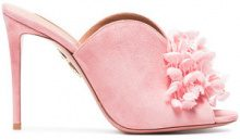 Aquazzura - Mules 'Lily Of The Valley 105' - women - Suede/Leather - 36, 37, 37.5, 38, 39, 40 - Rosa & viola
