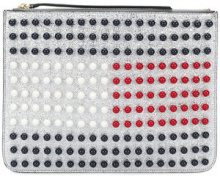 Hilfiger Collection - Pochette 'Tommy Icon Pearl Flag' - women - Leather - OS - Metallizzato