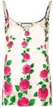 Gucci - Canotta con stampa 'Rose Garden' - women - Silk - 42, 44, 46, 40 - PINK & PURPLE