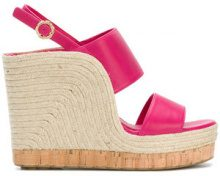 Salvatore Ferragamo - Sandali con zeppa - women - Leather/rubber - 5.5, 6.5, 7, 7.5, 8, 8.5 - PINK & PURPLE