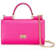 Dolce & Gabbana - Borsa tracolla 'Von' - women - Calf Leather - OS - PINK & PURPLE