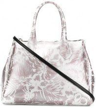 Gum - Hawaii floral print large tote bag - women - Polyurethane - OS - METALLIC
