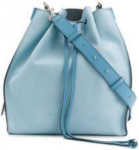 JW Anderson - Pouch shoulder bag - women - Leather - OS - BLUE