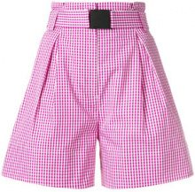 Nº21 - designer checked shorts - women - Cotone - 42, 40, 38 - Rosa & viola