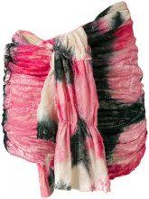 Tao Comme Des Garçons Vintage - Pantaloncini con arricciatura - women - Cotton/Polyester - S - PINK & PURPLE
