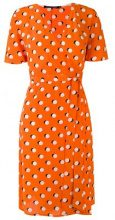 Reinaldo Lourenço - printed dress - women - Silk - 40, 42 - YELLOW & ORANGE