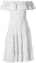 Isolda - off-the-shoulder dress - women - Cotone/Linen/Flax/Polyester - 40, 42 - Bianco