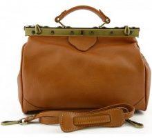 Borsette Dream Leather Bags Made In Italy  Borsa Da Medico In Pelle Colore Miele - Pelletteria Toscana Made