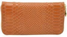 Portafoglio Dream Leather Bags Made In Italy  Portafoglio Per Donna In Vera Pelle Stampa Pitone Colore Salmone