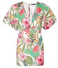 Petite Mia Tropical Print Batwing Bodycon Dress