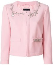 Boutique Moschino - crystal embellished jacket - women - Triacetate/Polyester/Acetate - 42, 44, 46 - PINK & PURPLE