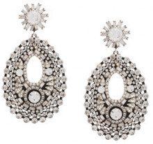 Dannijo - MATHILDE earrings - women - Crystal/ottone placcato argento - OS - Metallizzato