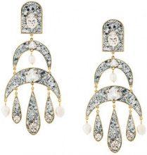 Shourouk - Orecchini pendenti 'Half Moon' - women - Acrylic/Pearls/Brass - OS - METALLIC