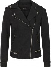 VERO MODA Short Faux Leather Jacket Women Black