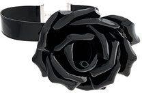 Saint Laurent - Choker floreale - women - Calf Leather - OS - BLACK