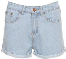 Shorts jeans con tasche posteriori stampate