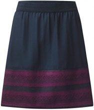 Street One Shiva L52 Circle Skirt w Jacquard Border, Gonna Donna, Blau (Night Blue 20109), 48 (Taglia Produttore: 42)