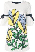 Ki6 - floral shift dress - women - Cotton - 42, 44, 46 - WHITE