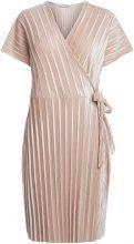 PIECES Velour Wrap Dress Women Pastel