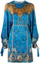 Etro - embroidered dress - women - Silk/Cotton/Polyester/Viscose - 40, 44 - BLUE