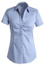 ESPRIT - Camicetta Regular Fit, Manica corta, Donna, blu (Blau (455 SKY BLUE)), 38 IT (XS)