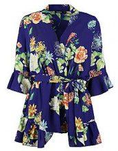 Emily tutina intera corta stile Kimono con motivi floreali