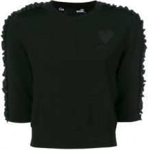 Love Moschino - Maglione crop - women - Cotton/Viscose/Spandex/Elastane/Polyester - 38 - BLACK