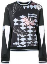 Versace Jeans - Felpa con motivo albero di palma - women - Polyester/Spandex/Elastane - M, L, XL - BLACK