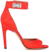 Givenchy - Sandali 'Shark Tooth' - women - Suede/Leather - 38, 37.5, 38.5 - Rosso