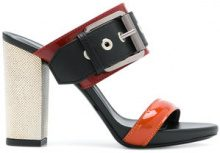 Barbara Bui - buckled open-toe sandals - women - Calf Leather/Leather - 36, 37, 39, 40, 41 - BLACK