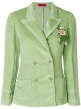 The Gigi - Blazer doppiopetto - women - Cotton/Linen/Flax - 40 - GREEN
