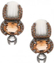 Camila Klein - Escaravello earrings - women - Metal (Other) - OS - METALLIC